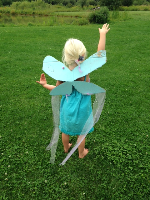 Cardboard fairy wings & Homemade fairy costume Archives - Monthly Science and Art Projects ...