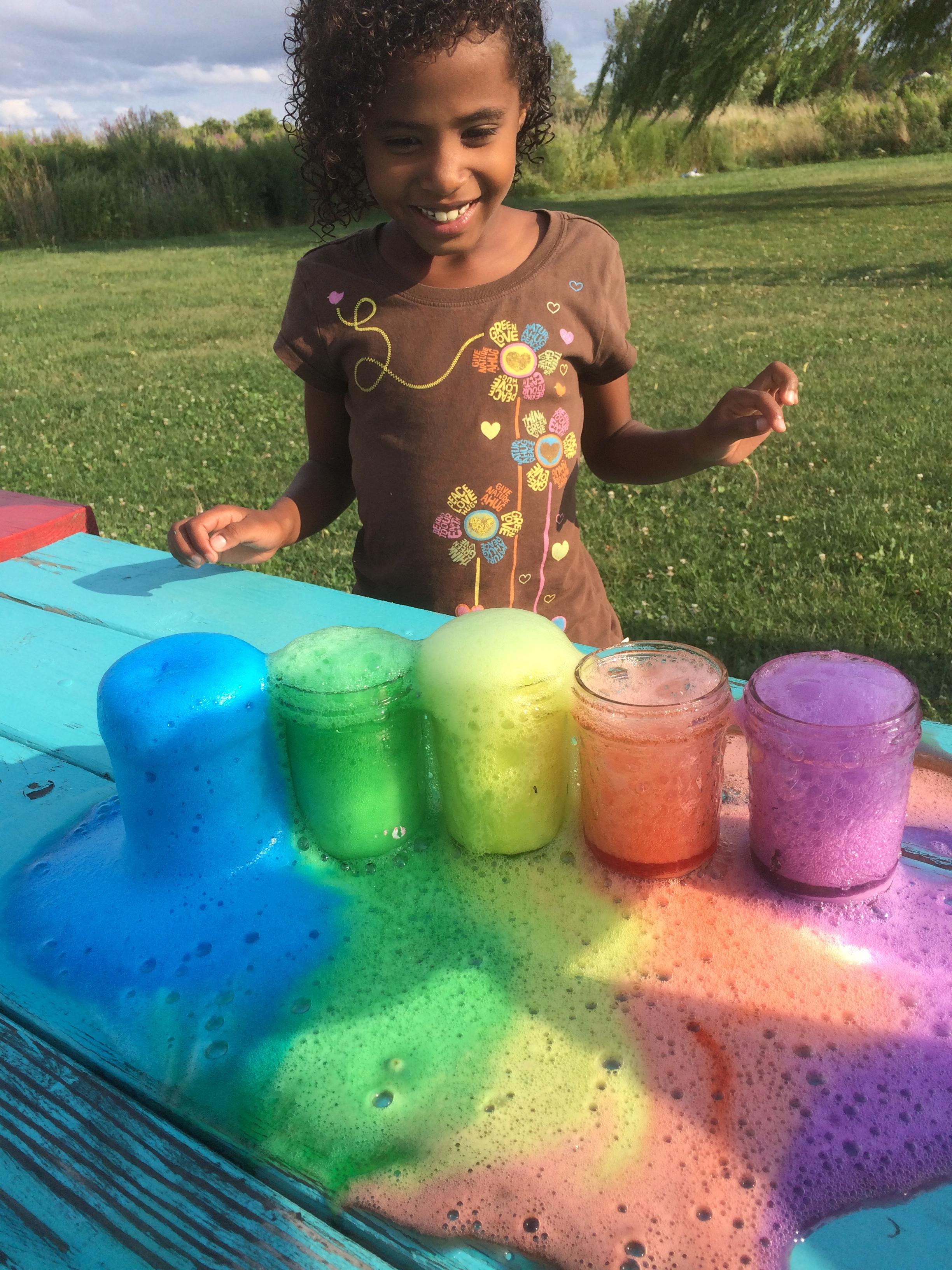 Rainbow Volcano Science Experiment Green Kid Crafts