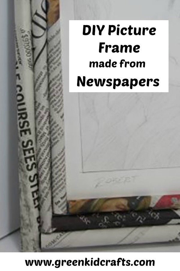 Recycled Newspaper Picture Frame - Monthly Science and Art Projects ...