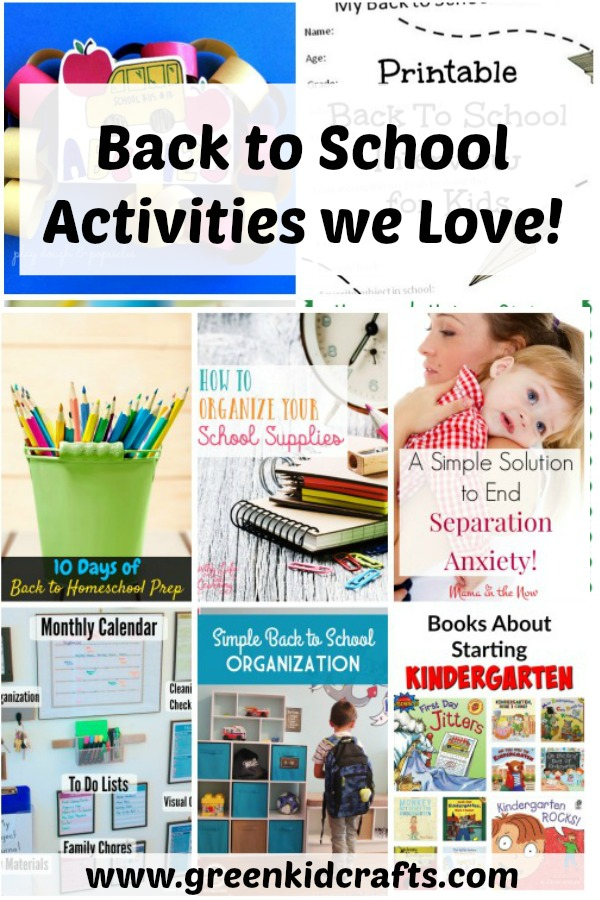 Back to school activities we love! A round up of great school organization tips, lunch box ideas and kids activities.