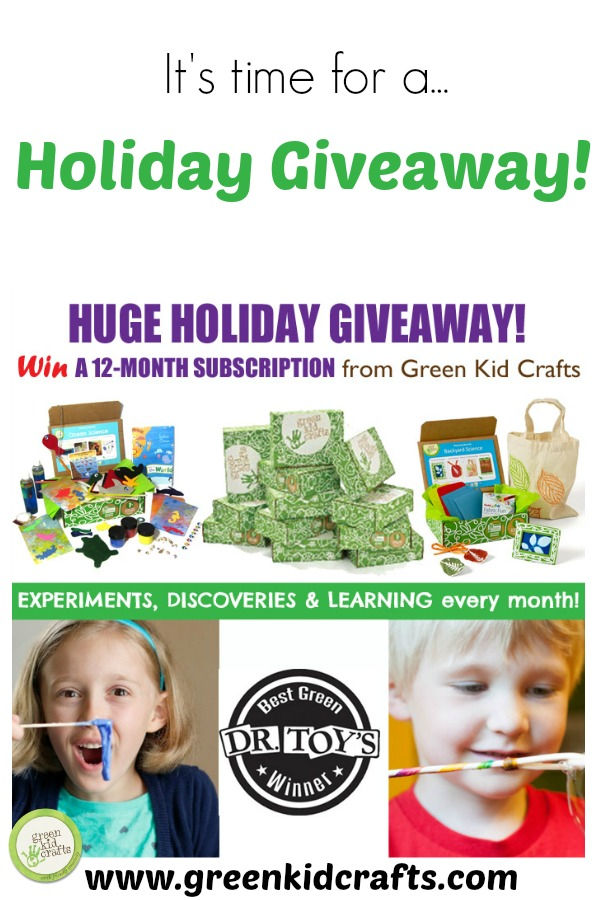 Enter to win an annual subscription to Green Kid Crafts!