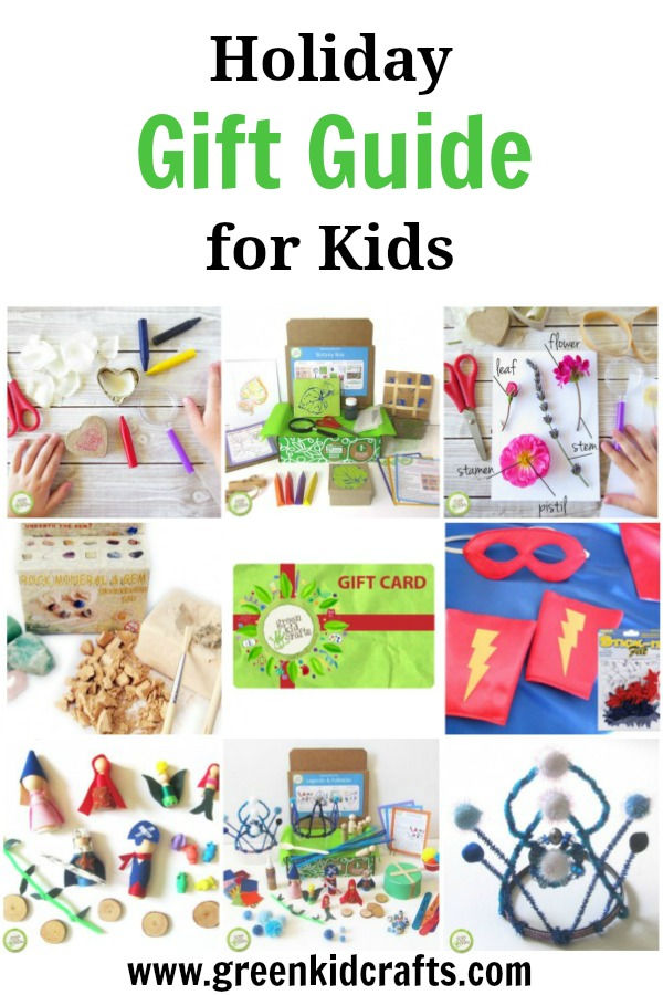 Holiday gift guide for kids! We've rounded up this year's favorite products from Green Kid Crafts and can't wait to share them with you!