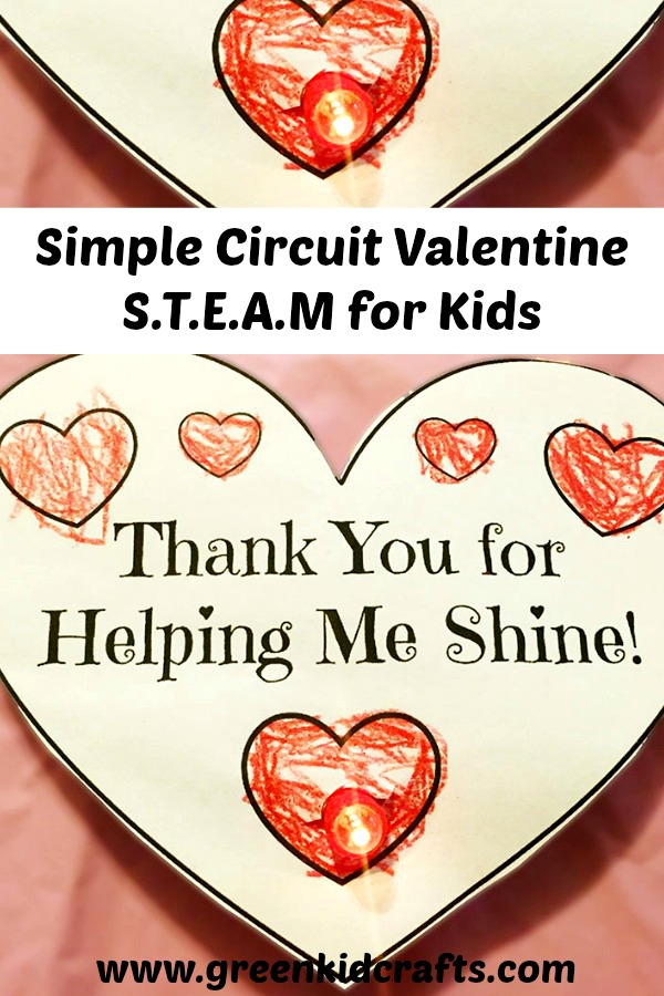 DIY light up Valentine. Make a simple circuit with this STEAM activity for kids. Free printable.