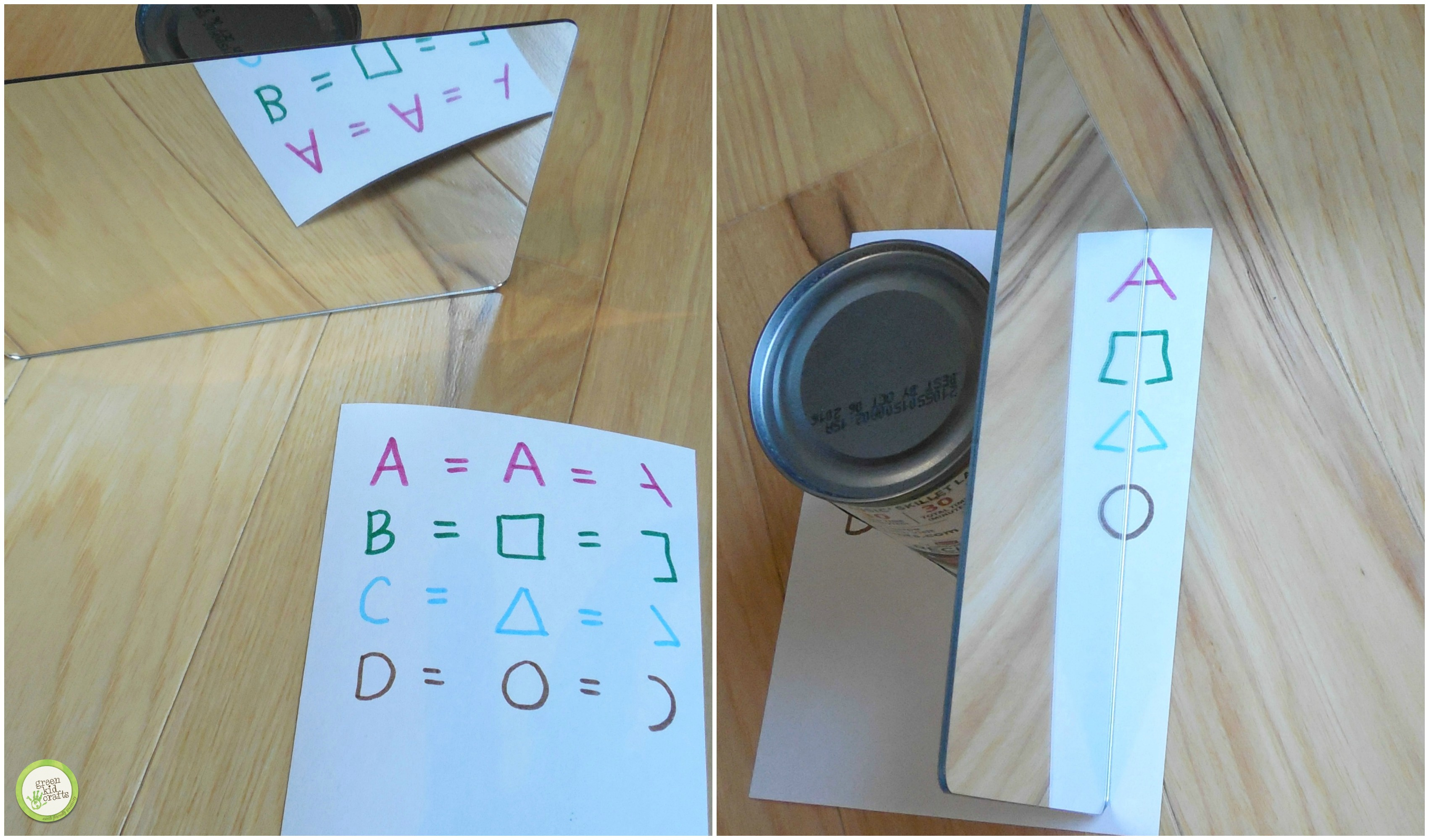 How To Make A Secret Message With Mirrors Green Kid Crafts