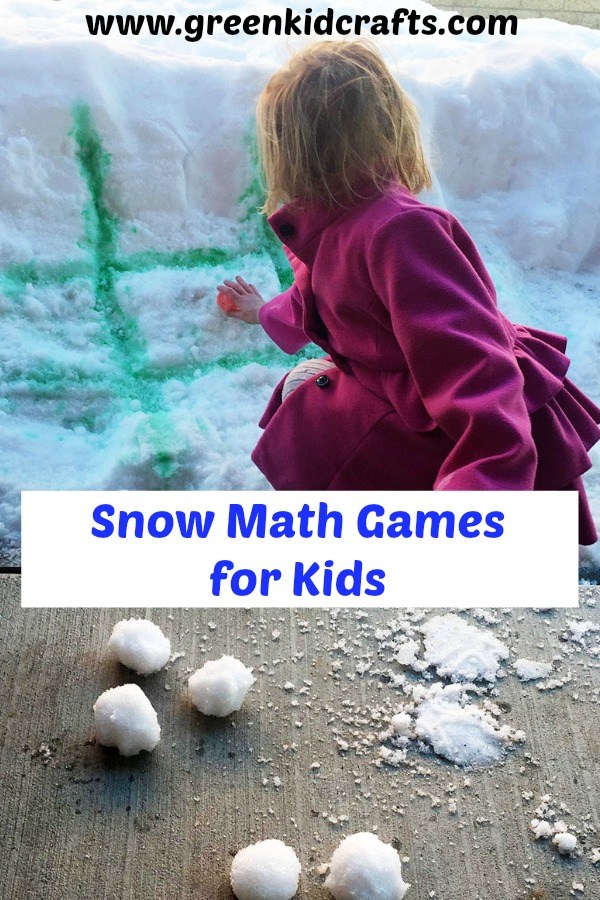 Math a games for winter weather. Simple addition and subtraction, games of strategy in the snow.