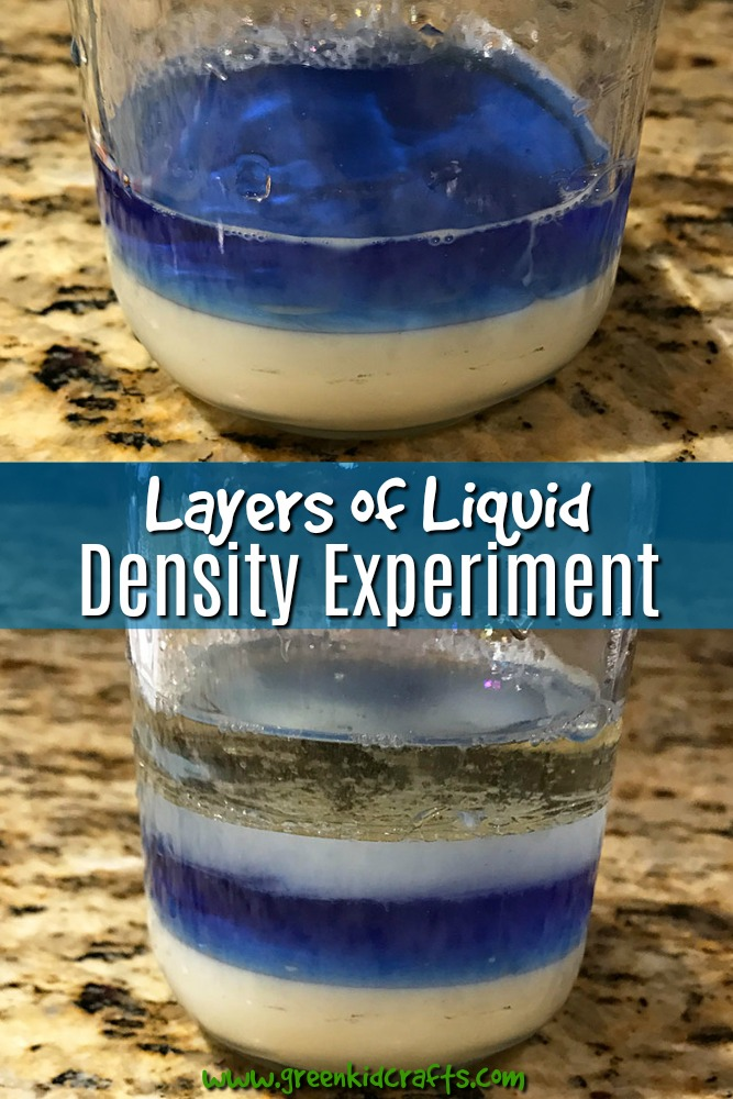 Learn about liquid density with a fun liquid layering experiment. Kitchen science experiments for kids.