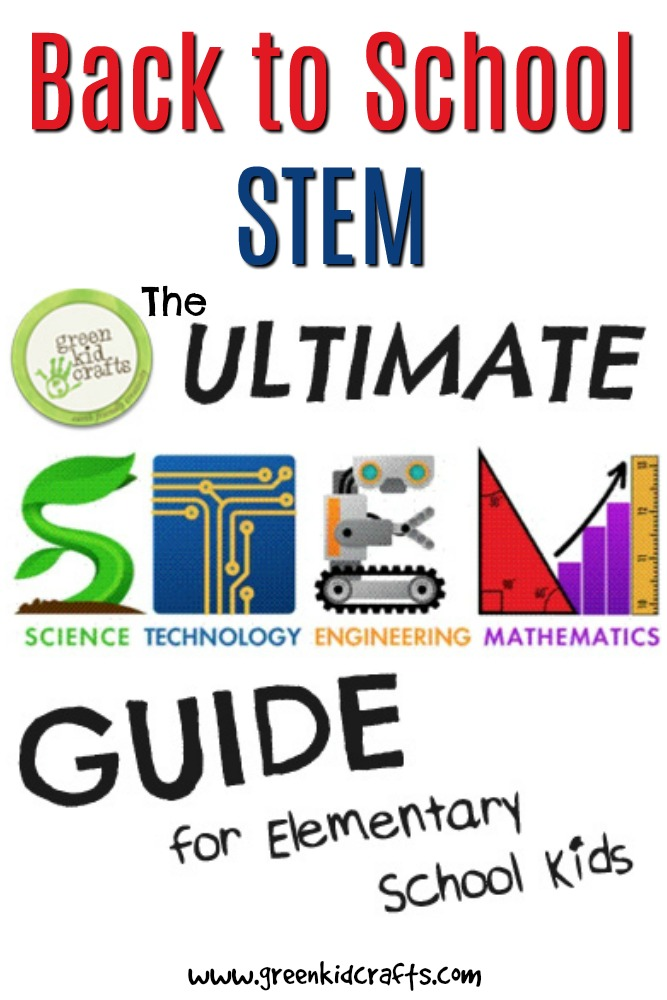 Back to school STEM guide for elementary kids. Great resource!