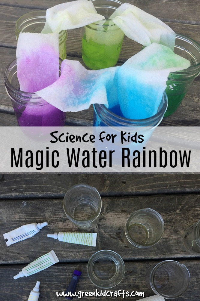 Create a rainbow of colors with water in this traveling water rainbow experiment. Water goes from the jar and up to meet the next color in the jar like rainbow magic!