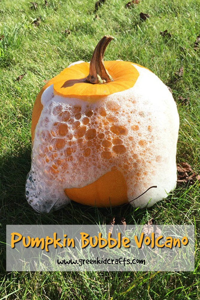 A new twist on old fun! Make a pumpkin volcano that erupts with bubbles! #fallscience #pumpkinscience
