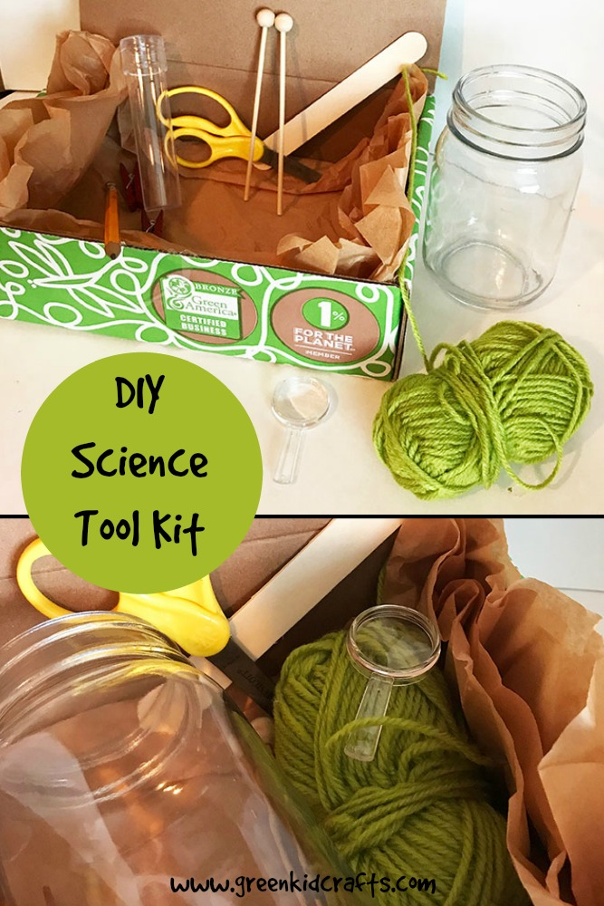 Make your own science tool kit from objects you've found around the house.