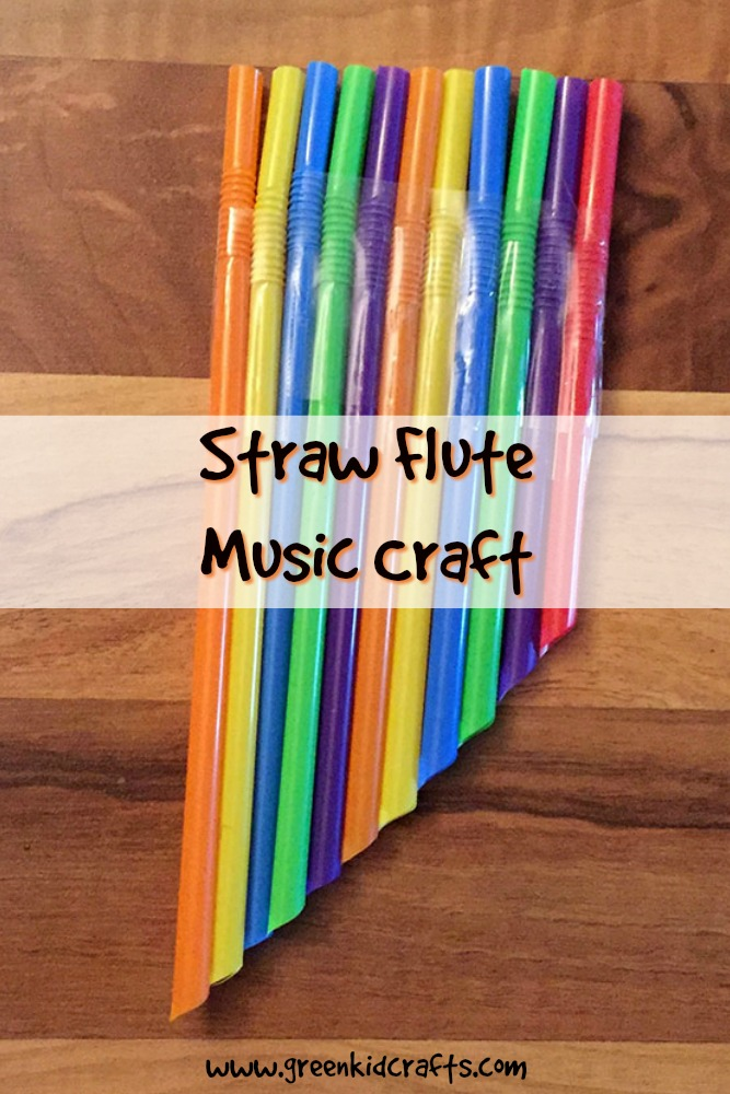 Make a windpipe from straws with this music crafts for kids.