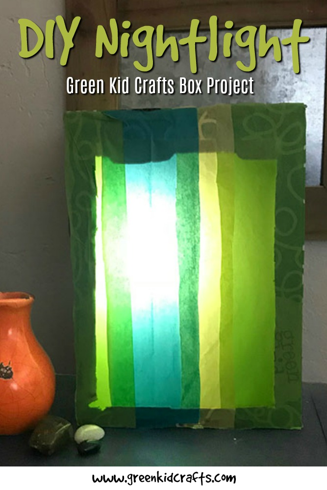 Make a DIY nightlight from your Green Kid Crafts Discovery Box! Easy colorful light project for kids.