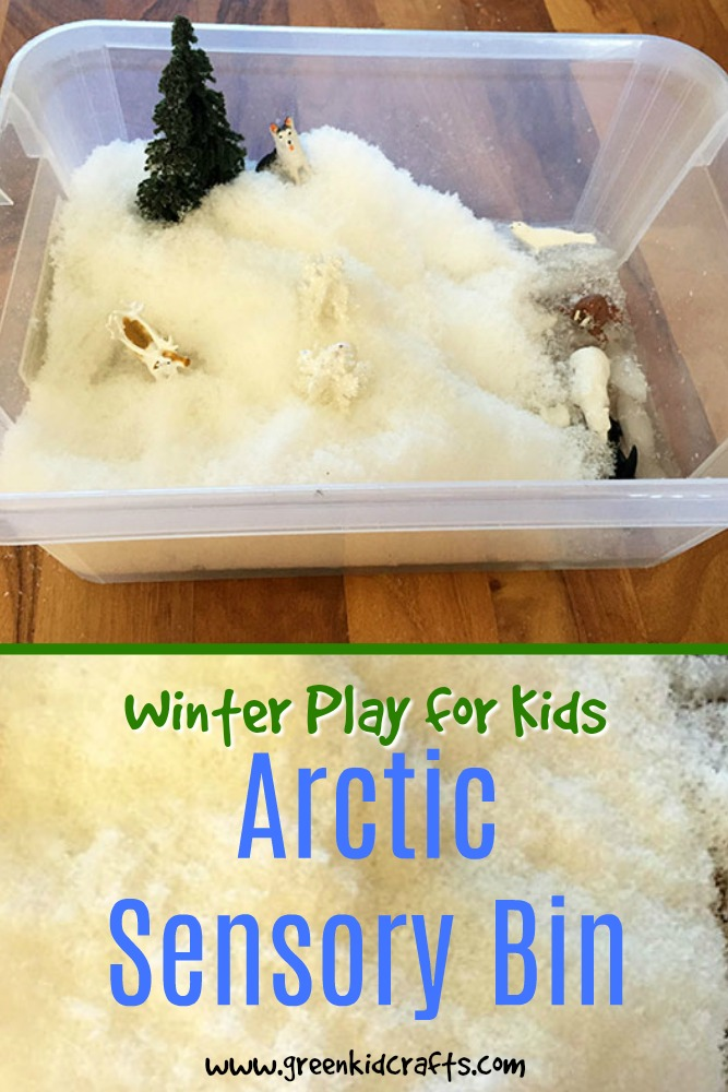 Put together a cold sensory bin for kids! Artic sensory bin play ideas. Snow sensory bin play for kids.