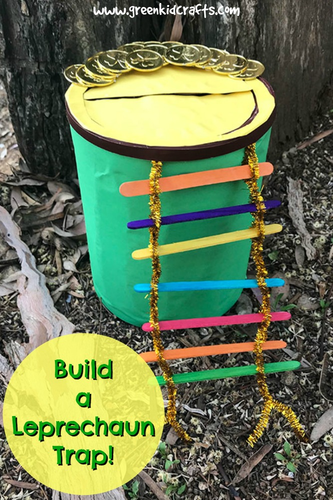 Build a leprechaun trap STEM challenge for kids. #STEM #STEAM #stpatricksday